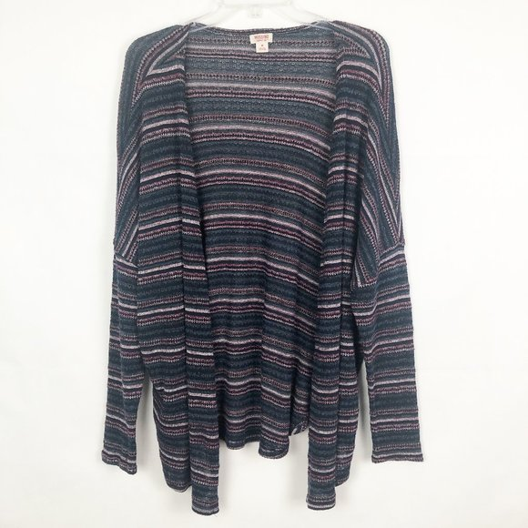 Mossimo I Long Sleeve Open Front Striped Cardigan